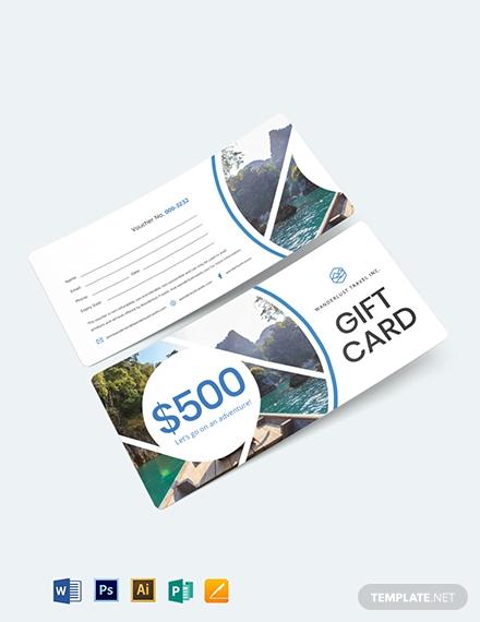 gift card travel voucher template1
