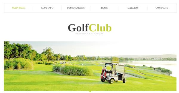 golf club – seo friendly wordpress theme