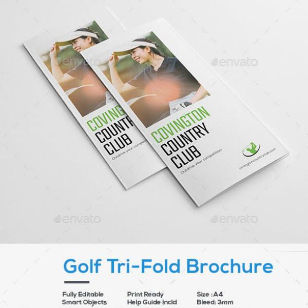 golf tournament event brochure sample