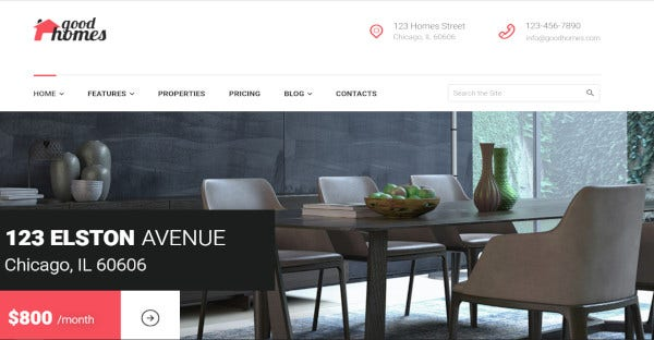 good homes one step installation wordpress theme
