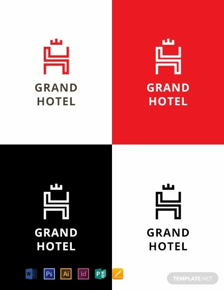 grand travel hotel logo template