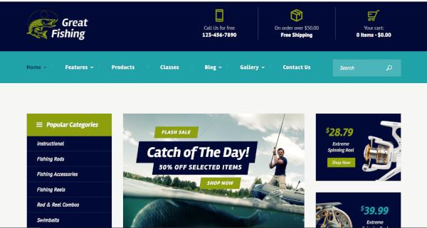 Great Fishing – GDPR Framework WordPress Theme