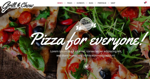 grill and chow – woocommerce integrated wordpress theme