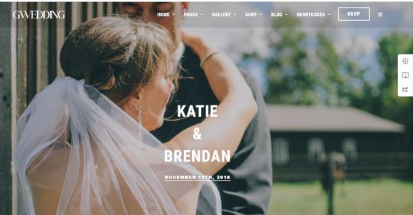 gwedding – html 5 wordpress theme