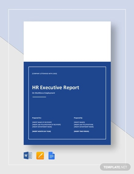 hr executive report template