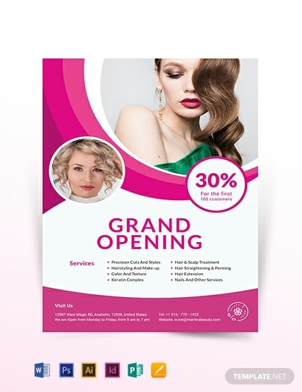 hair salon opening flyer example