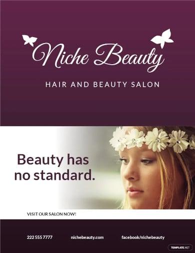 hair salon and beauty care flyer template