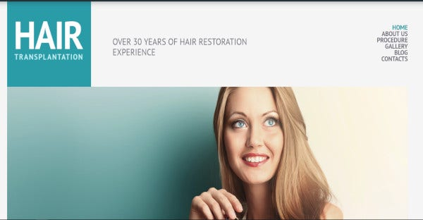 hair transplantation 600 google fonts wordpress theme