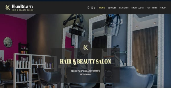 hairbeauty woocommerce wordpress theme