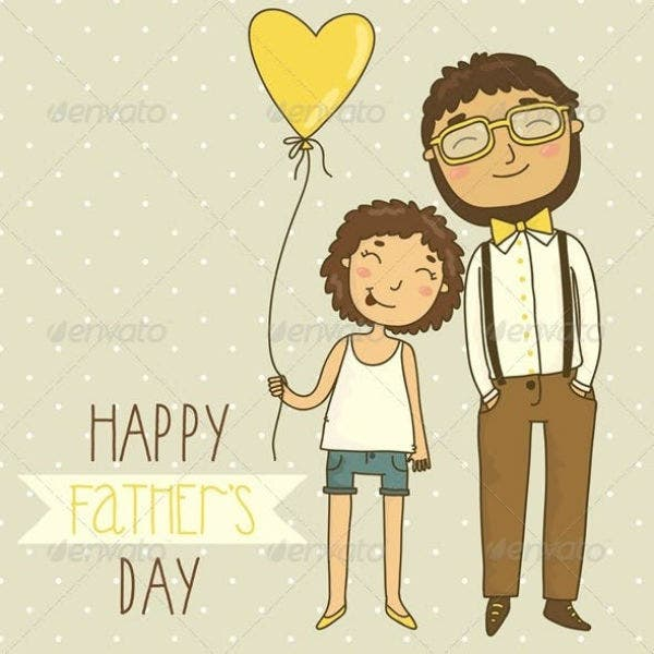 Happy Dad's Day Card Template