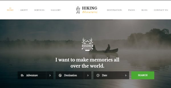 hiking adventures – drag and drop page builder wordpress theme