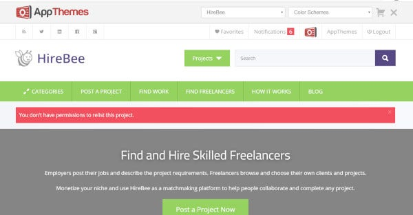 hirebee escrow ready wordpress theme