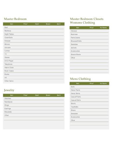 home-inventory-checklist-sample