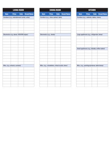 home-inventory-checklist-template