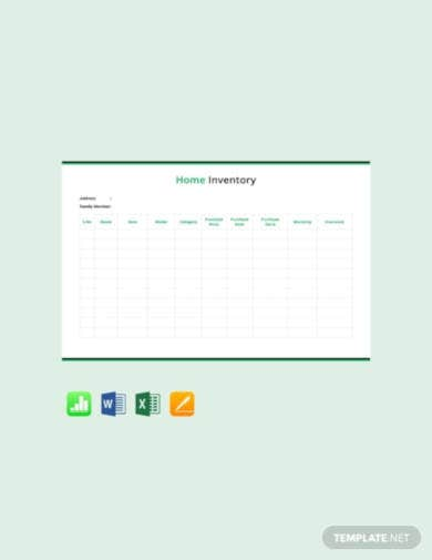 home-inventory-template