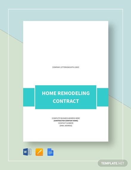 home remodeling contract