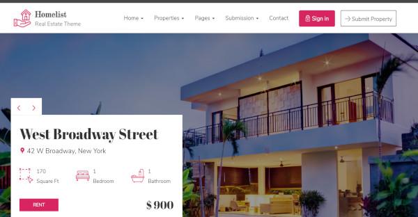 homelist – user friendly wordpress theme