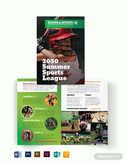 hoops sports event brochure format