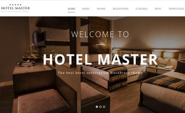 hotel master – fast loading wordpress theme
