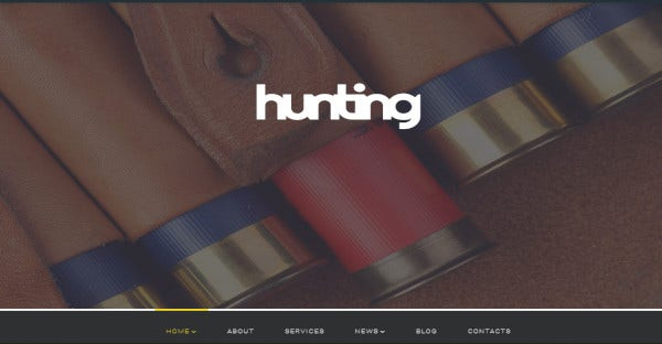 hunting – parallax effects wordpress theme