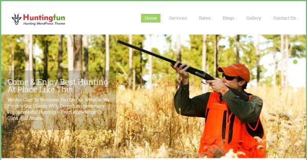 Huntingfun – 6 Different Blog Section WordPress Theme