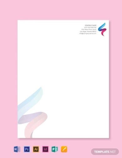 it company letterhead template