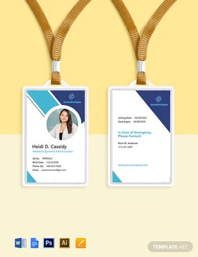 it services company id card template1