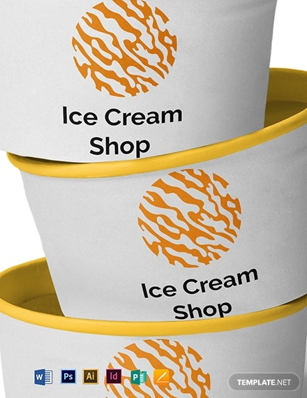 ice cream marketing logo example