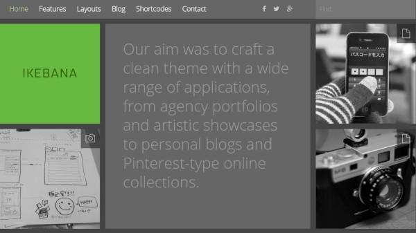 ikebana – customer friendly wordpress theme