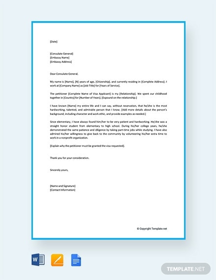 Sample Character Reference Letter For Deportation from images.template.net
