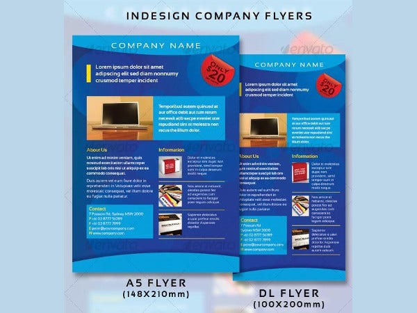 indesign company flyer