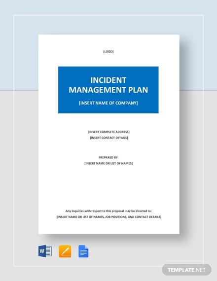 incident management plan