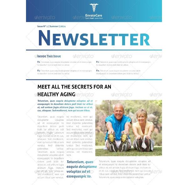 indesign medical newsletter template1