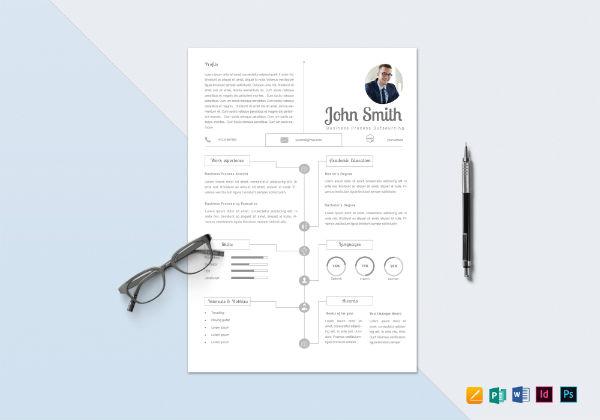infographic bpo resume template