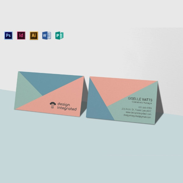 integrated marketing business card template
