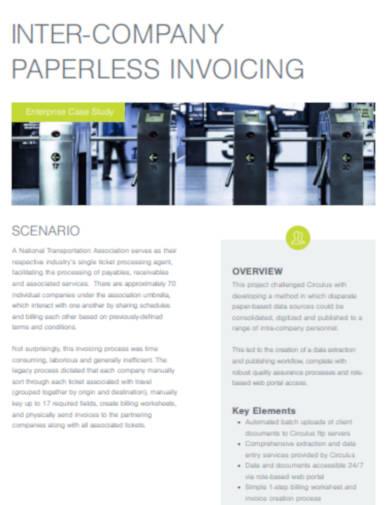 inter company invoice in pdf