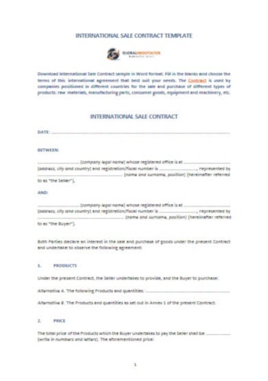 international sale contract template1
