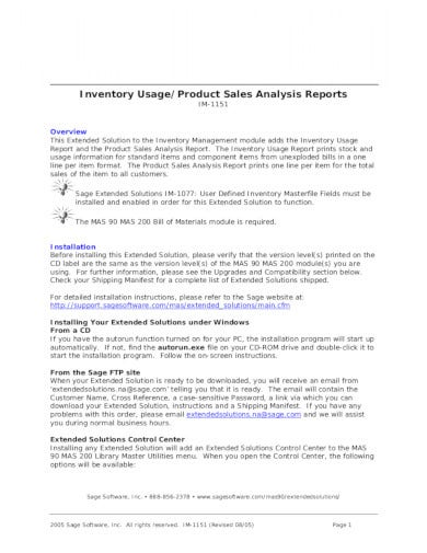inventory analysis report in pdf