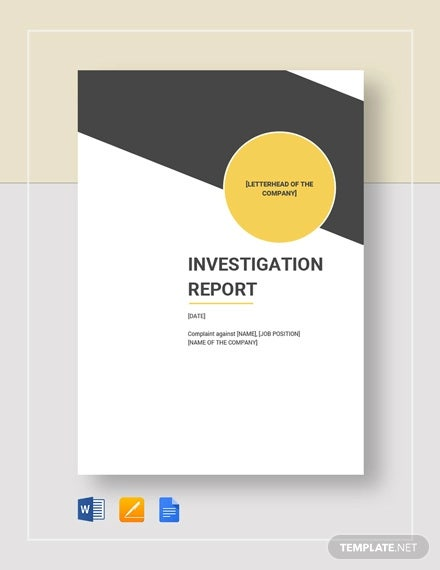 investigation report template