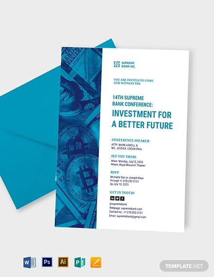 investment seminar invitation card design