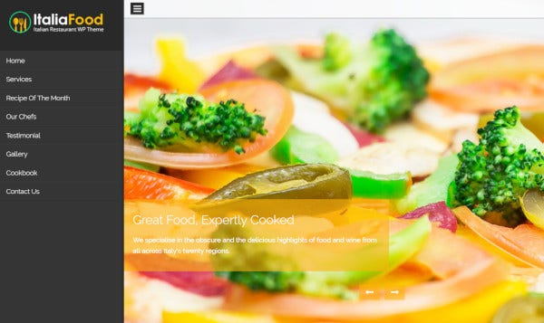 italiafood – custom wordpress theme