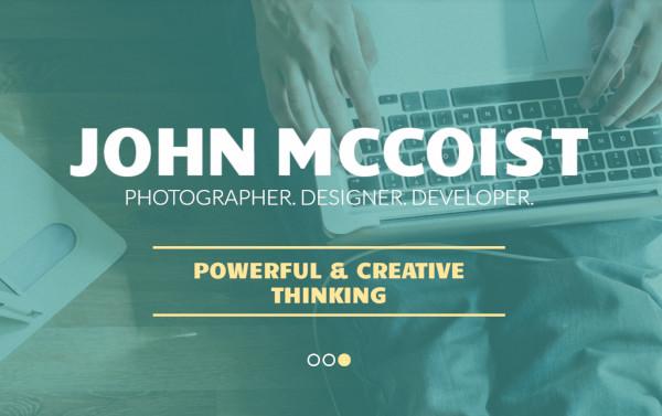 john mccoist parallax wordpress theme