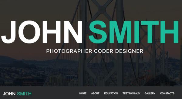 john smith responsive wordpress theme