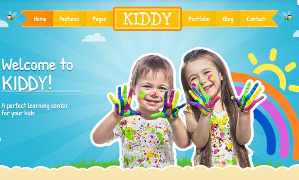kiddy html and css3 wordpress theme