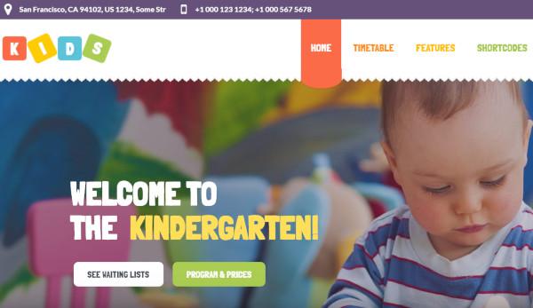 kids html5 wordpress theme