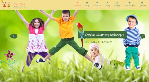 kids zone multilingual wordpress theme