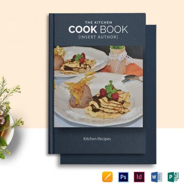 kitchen cookbook food catalog template