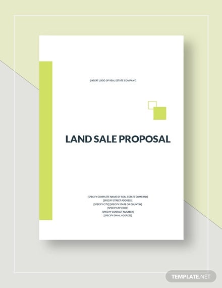 land sale proposal template