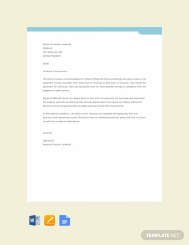 landlord tenant reference letter template1