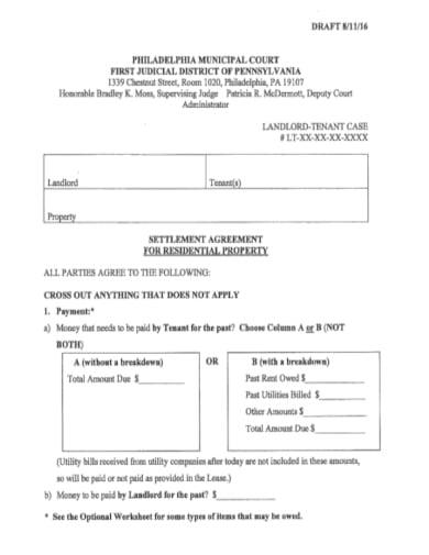 Free Settlement Offer Letter Template Word on